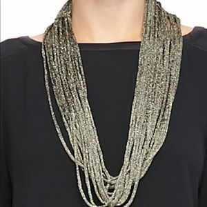Eileen Fisher Sparkle Knit Scarf Necklace